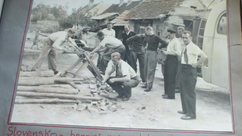 Po válce jeli hodolanští na Slovensko.
