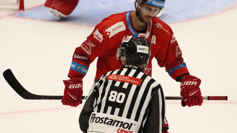 David Krejčí v prvním zápase za HC Olomouc